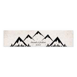 Mountains Adventure Begins Wedding Monogram Napkin Band