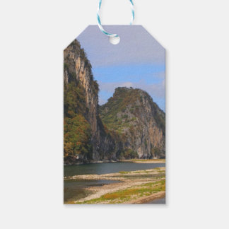 Mountains along Li River, China Gift Tags