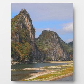Mountains along Li River, China Plaque