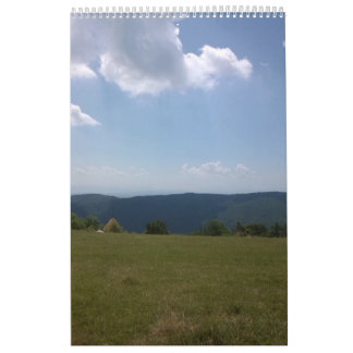 Mountains and forest calendar
