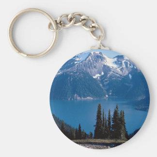 Mountains and lake, British Columbia, Canada Keychains