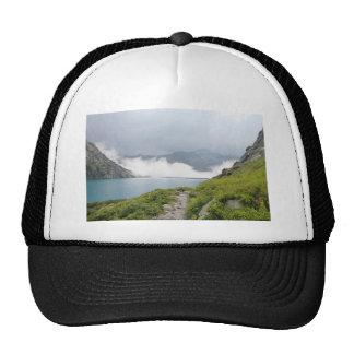 Mountains and lake cap