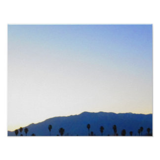 Mountains And Palm Trees Poster