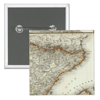 Mountains and Rivers of Canary Islands 15 Cm Square Badge