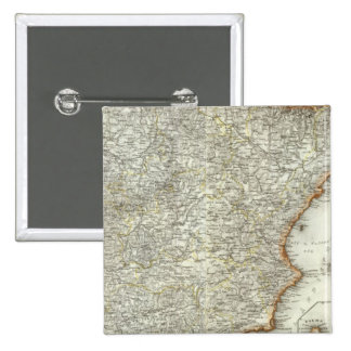 Mountains and Rivers of Madrid, Spain 15 Cm Square Badge