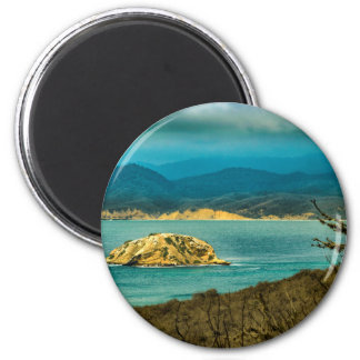 Mountains and Sea at Machalilla National Park 6 Cm Round Magnet