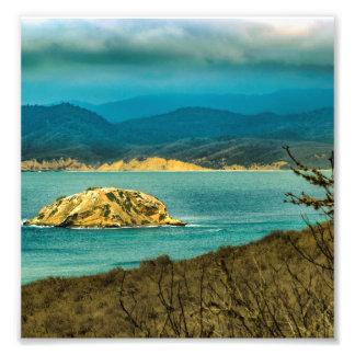 Mountains and Sea at Machalilla National Park Photo Print