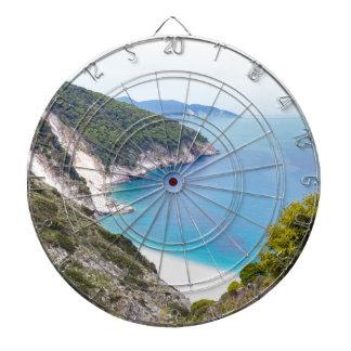 Mountains and sea in greek bay dartboard