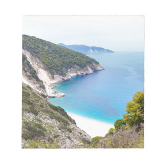 Mountains and sea in greek bay notepad