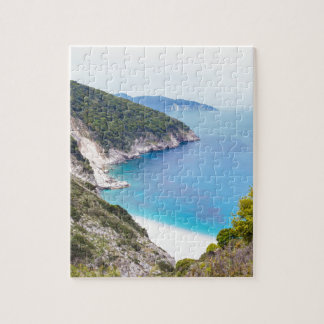 Mountains and sea in greek bay puzzles