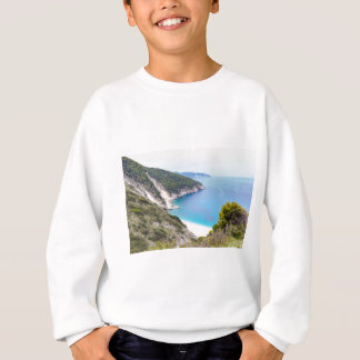 Mountains and sea in greek bay sweatshirt