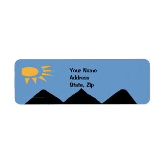 Mountains and Sun Return Address Label