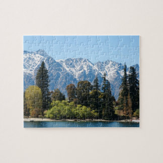 Mountains and Trees Landscape Photo Puzzle