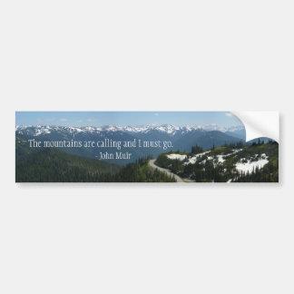 Mountains are Calling Bumper Sticker