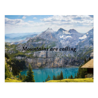 Mountains are calling postcard