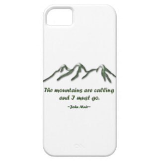 Mountains are calling/Snow tipped mtns Case For The iPhone 5