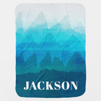 Mountains Baby Blanket Boy Name Wild Nursery