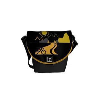 Mountains & Biking Mini-Messenger Bag Courier Bag