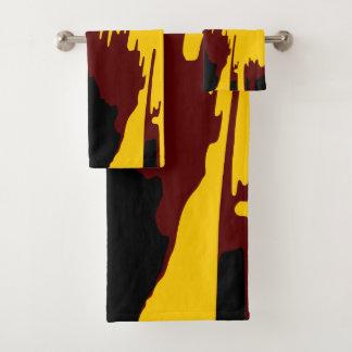 Mountains Colourful Vector Art Abstract Design Bath Towel Set