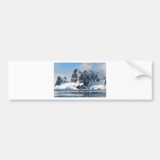 mountains ice bergs bumper sticker