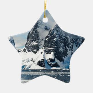 mountains ice bergs ceramic ornament