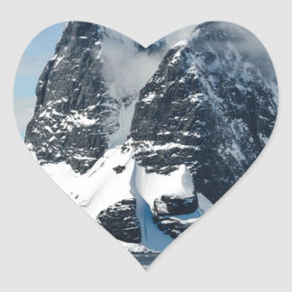 mountains ice bergs heart sticker