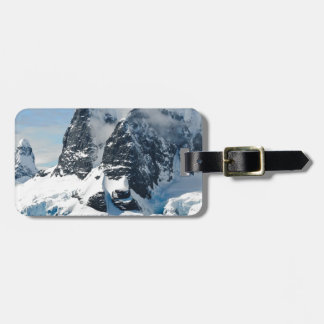 mountains ice bergs luggage tag