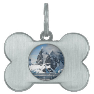 mountains ice bergs pet ID tag