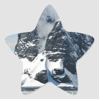 mountains ice bergs star sticker