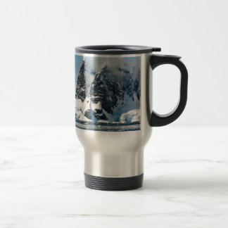 mountains ice bergs travel mug