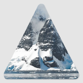 mountains ice bergs triangle sticker