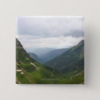 Mountains in Glacier National Park 15 Cm Square Badge