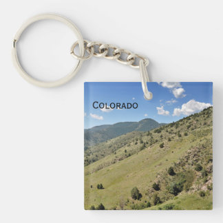 mountains in Morrison Colorado Key Ring