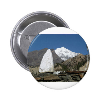 Mountains in Nepal 6 Cm Round Badge