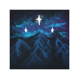 Mountains in Starlight Canvas Print