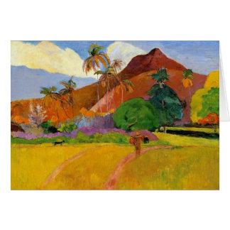 'Mountains in Tahiti' - Paul Gauguin Card