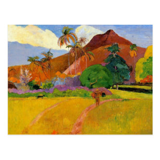 'Mountains in Tahiti' - Paul Gauguin Postcard