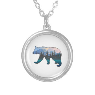Mountains in the Mist Silver Plated Necklace