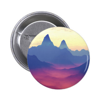 Mountains of Another World 6 Cm Round Badge
