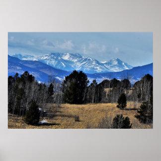 Mountains of Colorado Poster