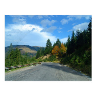 Mountains of Moldova in autumn Postcard
