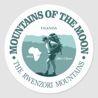 Mountains of the Moon Classic Round Sticker