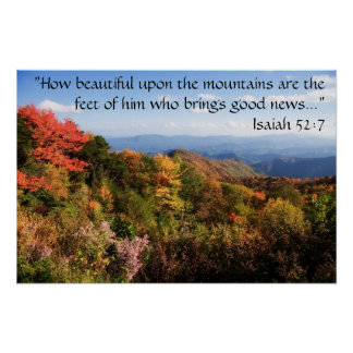 Mountains Poster with Verse