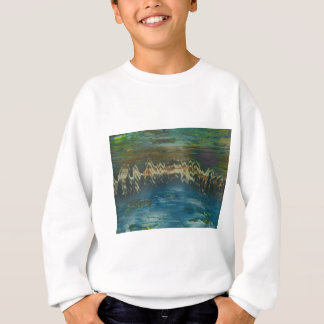 Mountains reflected in winter lake sweatshirt