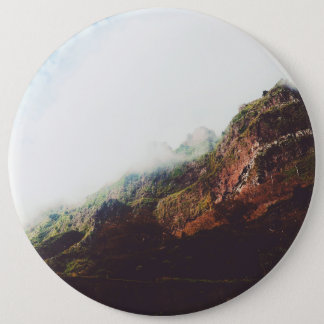 Mountains, Relaxing Nature Landscape Scene 6 Cm Round Badge