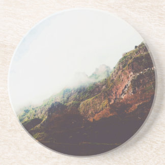 Mountains, Relaxing Nature Landscape Scene Coaster