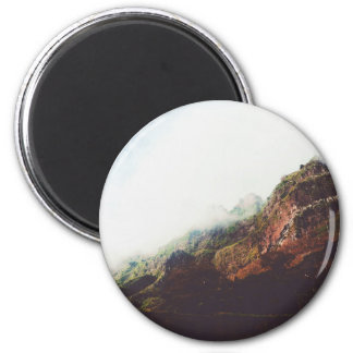 Mountains, Relaxing Nature Landscape Scene Magnet