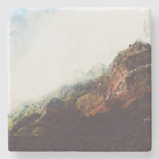 Mountains, Relaxing Nature Landscape Scene Stone Coaster