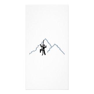 Mountains rock climbing photo card
