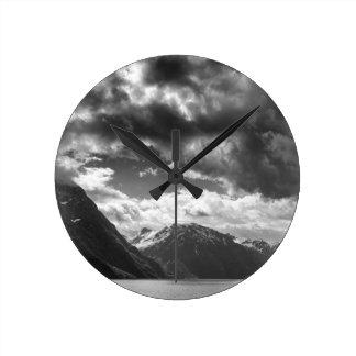 Mountains Round Clock
